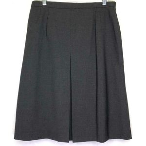 Talbots  Gray Wool Pleated Stretch Skirt